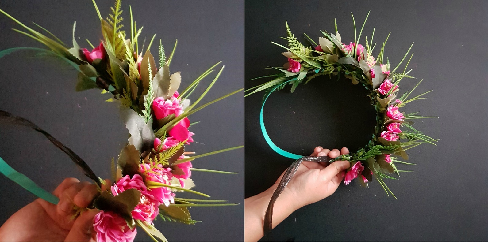 How to make cook island ei katu flower crown or head garland manaui youve finished your ei katu when you can no longer add anymore leaves or flowers the easiest way to complete it is by wrapping the raffia in between each izmirmasajfo